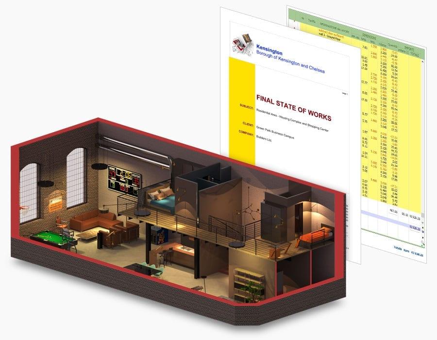 Orçamento automático dinâmico elementos do projeto | Edificius | ACCA software