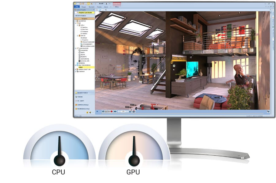 Equilíbrio GPU/CPU | Edificius+AIrBIM | ACCA software
