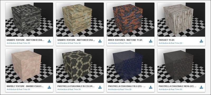 Texturas, blocos CAD e modelos 3D gratuitos | Edificius | ACCA software