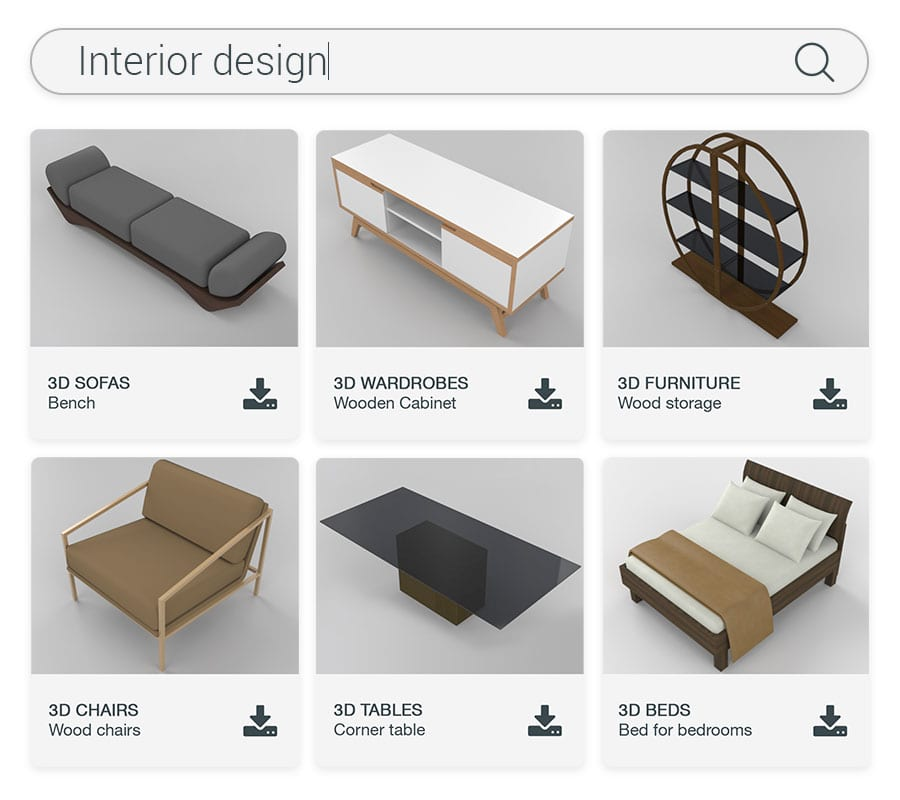 BIM objects library interior furnishings | Edificius | ACCA software