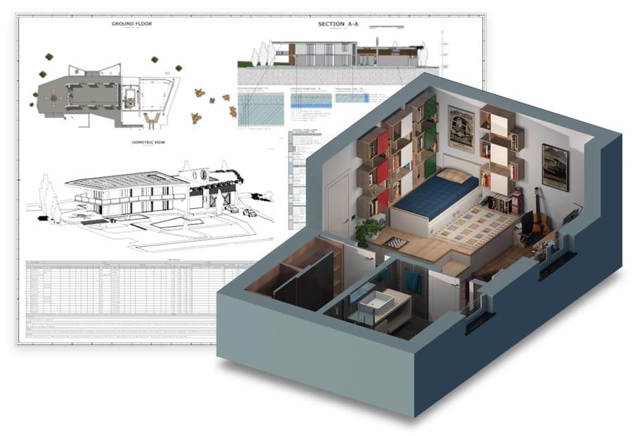 Obtenha automaticamente plantas 2D e modelos 3D | Edificius | ACCA software
