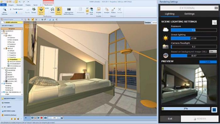 Logiciel de rendu 3D architecture | Edificius+AIrBIM | ACCA software