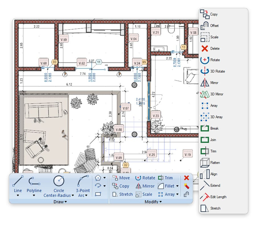 CAD 2D/3D gratuito integrado | Edificius | ACCA software