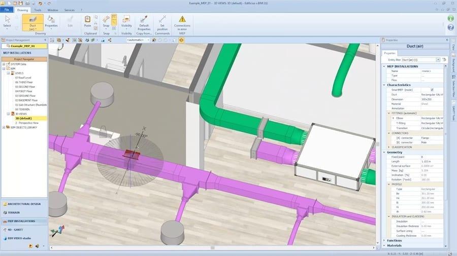 BIM-software für MEP | Edificius MEP | ACCA software