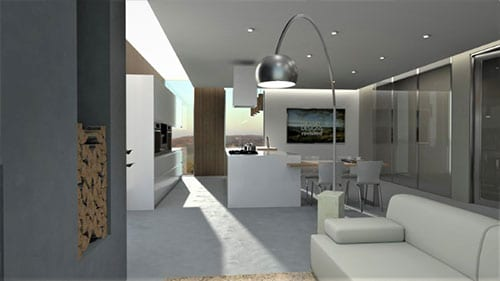 Example Open plan kitchen-living room | Edificius | ACCA Software