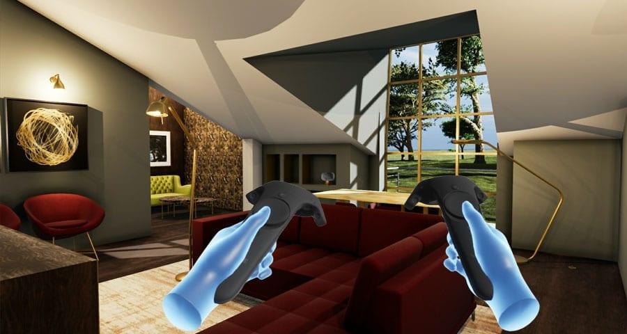 Navigieren sie BIM-Modelle immersiver Virtual Reality | Edificius+VRiBIM | ACCA software