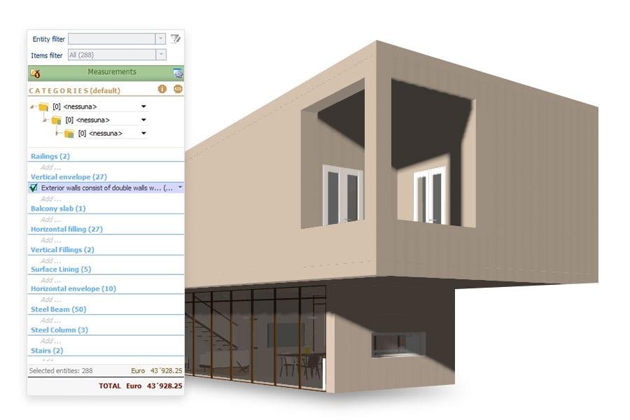 Detaillierte Kontrolle des Aufmaßes | Edificius | ACCA software