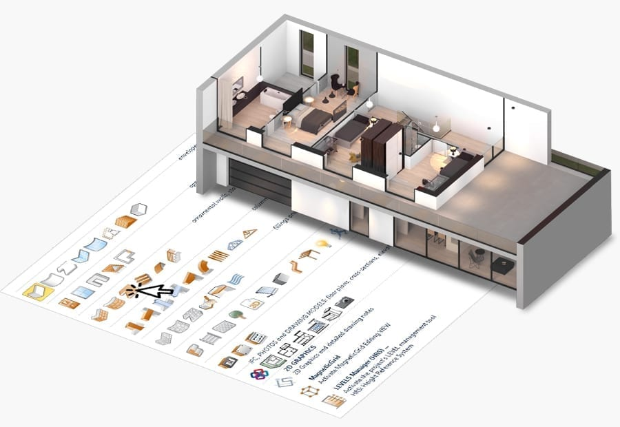 Conception d'environnements d'intérieur 2D-3D | Edificius | ACCA software