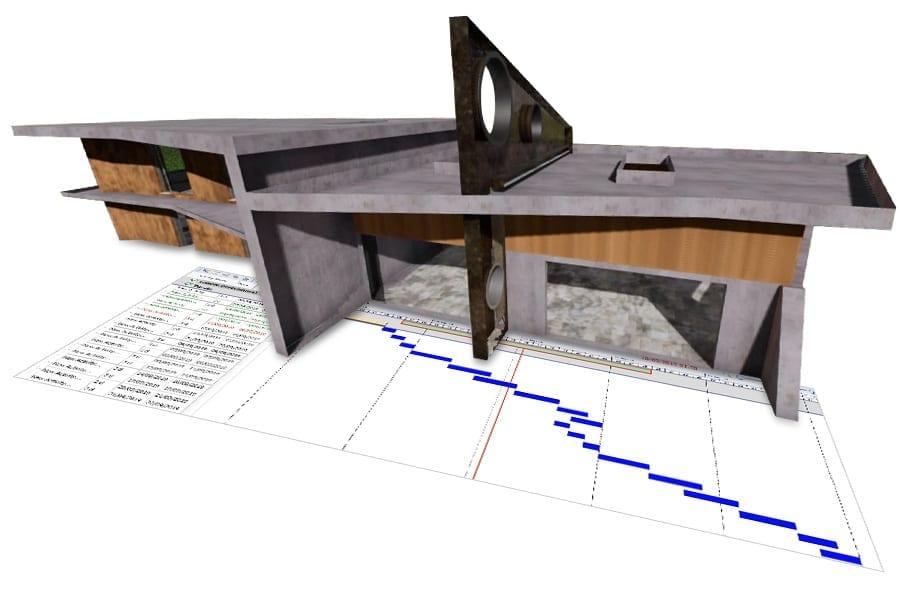 Línea de tiempo del proyecto en Renderizado en Tiempo Real | Edificius | ACCA software
