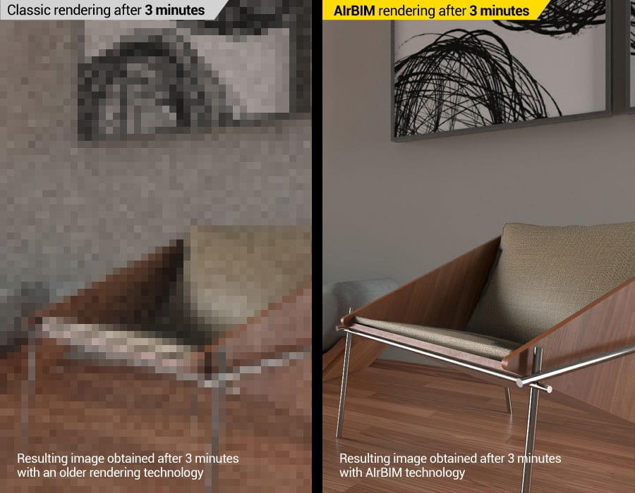 Rendu avec Intelligence Artificielle (AI) | Edificius+AIrBIM | ACCA software
