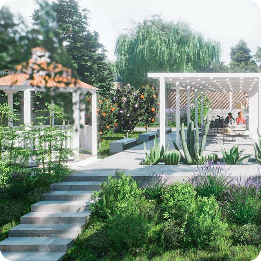 RTBIM para el diseño de jardines y espacios exteriores | Edificius+RTBIM | ACCA Software