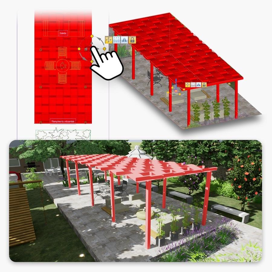 Real-Time rendering y diseño de espacios exteriores | Edificius+RTBIM | ACCA Software