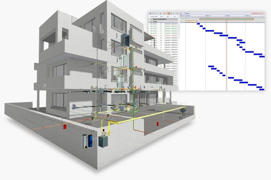 Simulate evolution of project over time | Edificius MEP | ACCA software