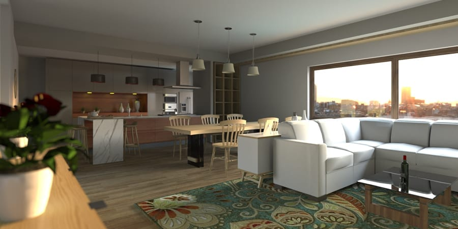 Interior design render | Edificius | ACCA software