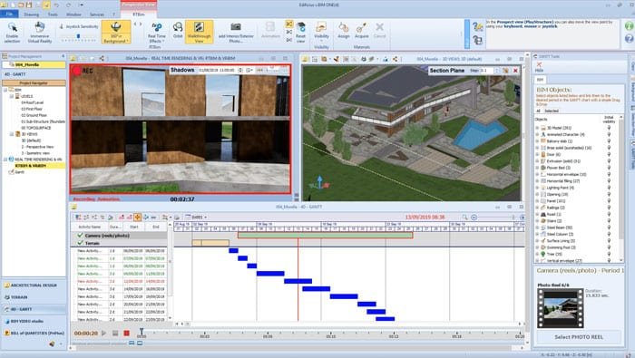 BIM 4D GANTT | Edificius | ACCA software