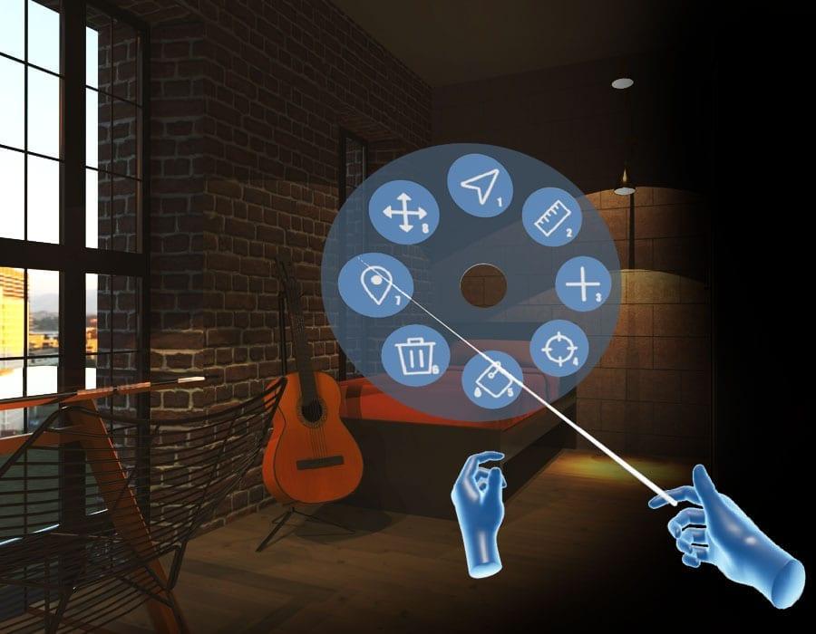 Modifique em tempo real o modelo BIM em que está navegnado diretamente do ambiente de realidade virtual imersiva   VRiBIM+Edificius   ACCA software