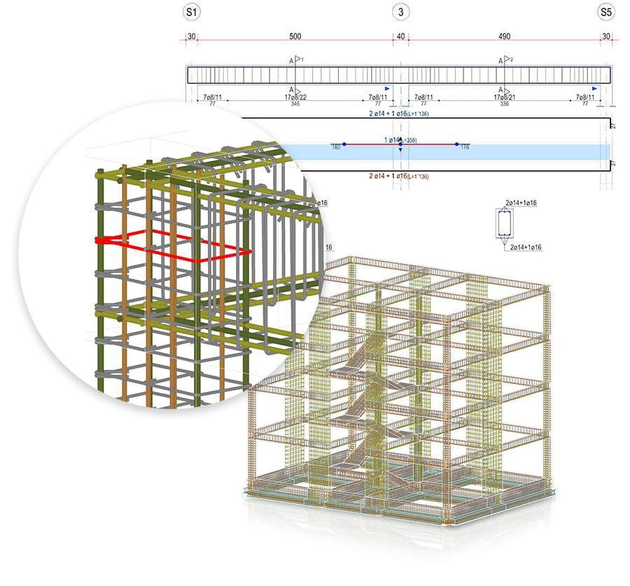 Diseño, personalización y visualización 3D de las armaduras - EdiLus CONCRETE - ACCA software