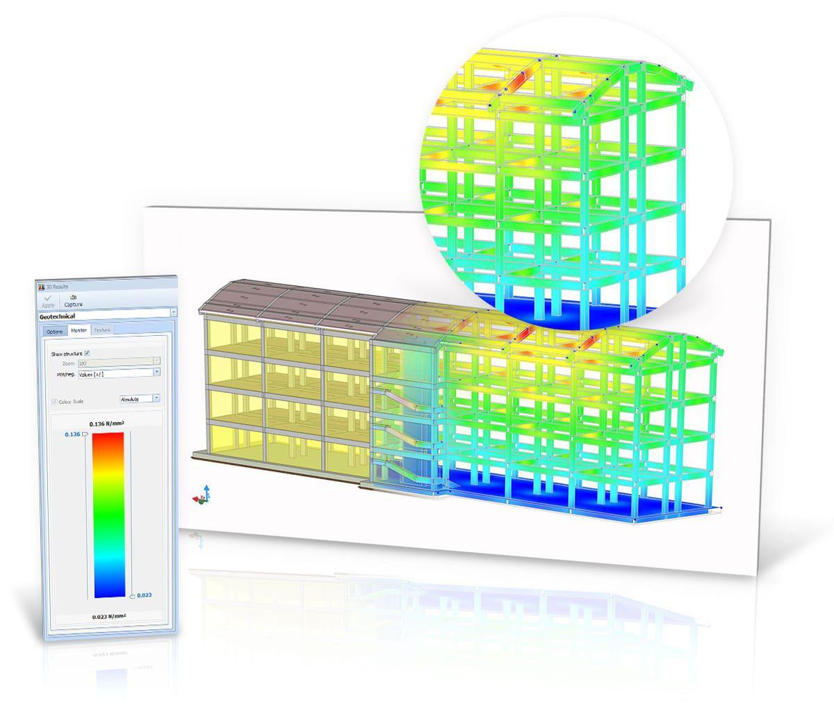 Representaciones gráficas de los resultados de cálculo claras y eficaces - EdiLus CONCRETE - ACCA software
