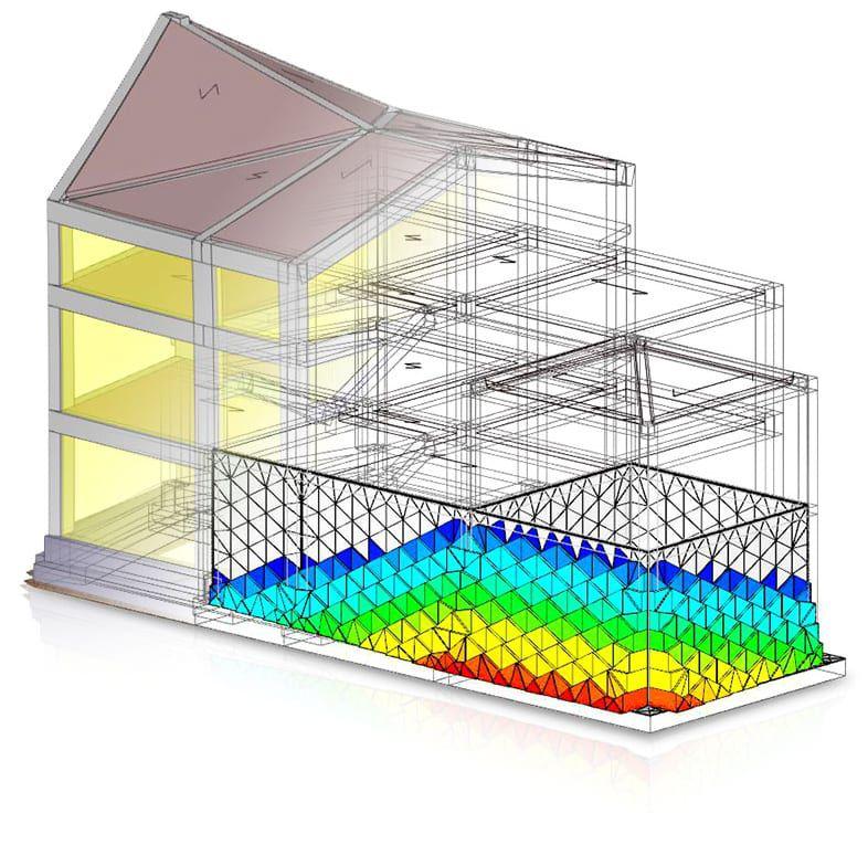 Solucionador FEM de cálculo estructural integrado en el software - EdiLus CONCRETE - ACCA software