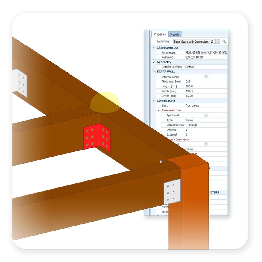 Dibujas y calculas elementos en madera y madera laminada - EdiLus CONCRETE - ACCA software
