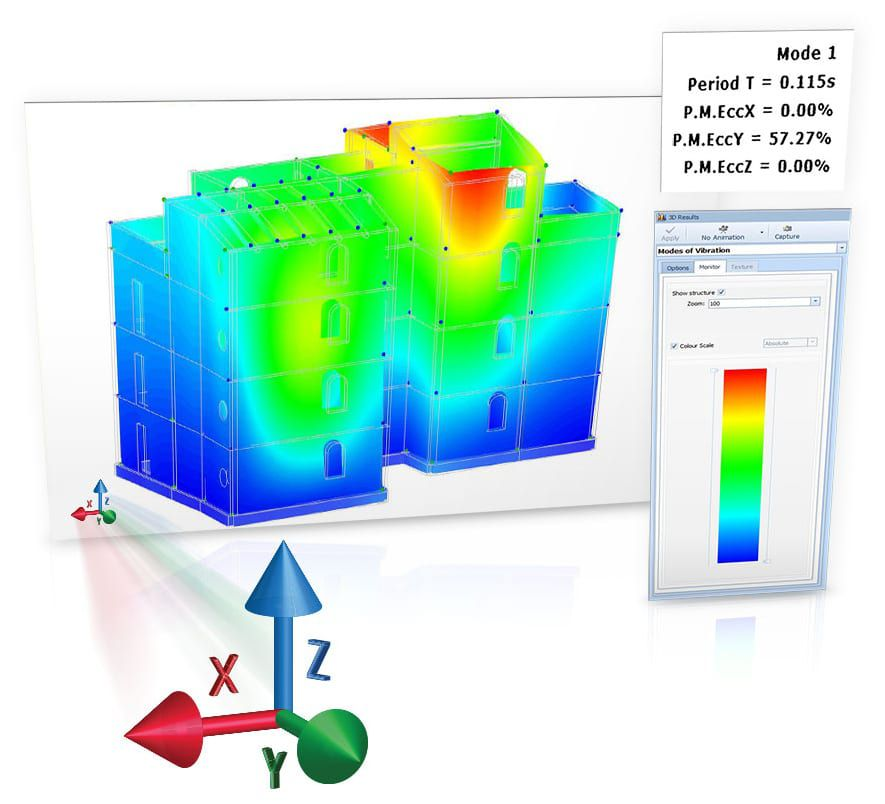 Analyses graphiques et représentations en couleurs pour le contrôle et la vérification des résultats de calcul - EdiLus MASONRY - ACCA software