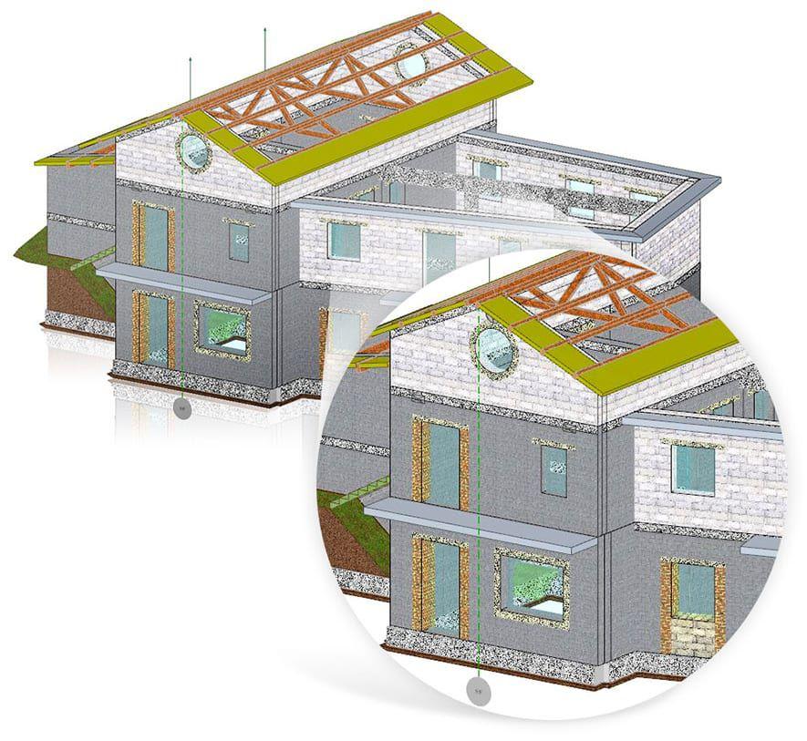 Modélisation de structures en maçonnerie traditionnelles ou en maçonnerie armée obtenue par saisie d'objets paramétriques  - EdiLus MASONRY - ACCA software