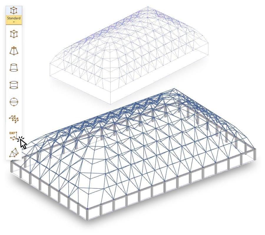 Modelado de la estructura en acero con rejillas magnéticas en 3D - EdiLus STEEL - ACCA software