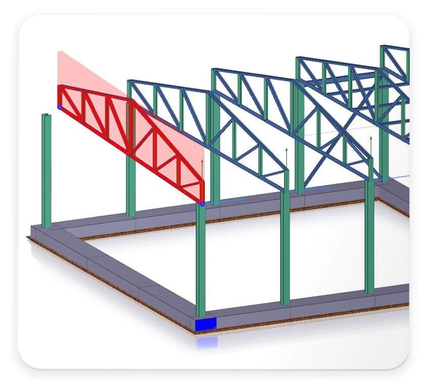 Modelado de cerchas y arrostramientos a partir de una librería específica - EdiLus STEEL - ACCA software