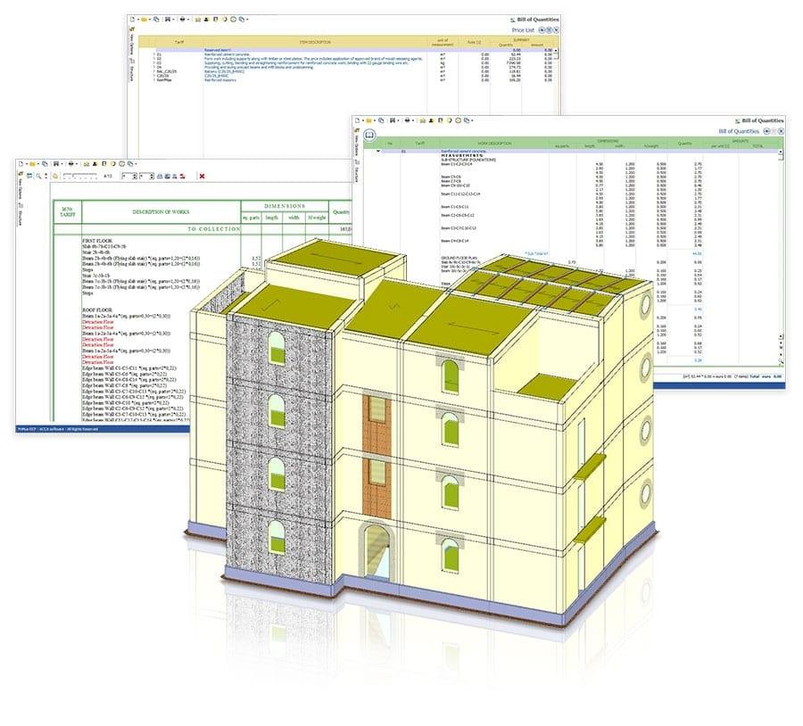 Conception de structure et métré intégrés | ACCA Software