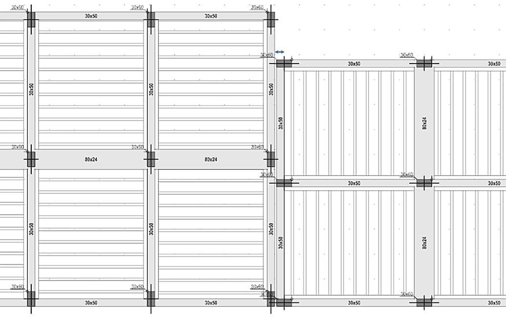 Ejemplo de junta de separaciones útiles para la mejoría estructural - Diseño estructural | ACCA software
