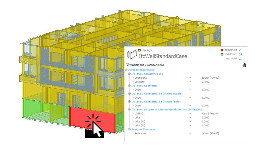 Selecione entidades no modelo BIM | PriMus IFC | ACCA software
