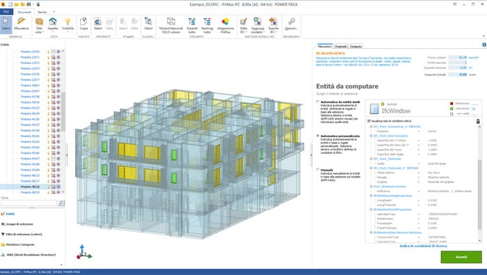5D BIM automatic Quantity Take-off | PriMus IFC | ACCA software