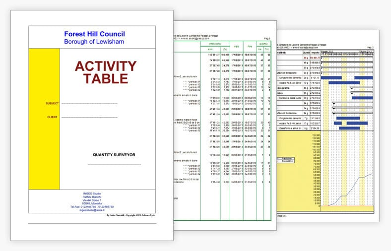 Printing Time-schedules and Reports | PriMus KRONO | ACCA software