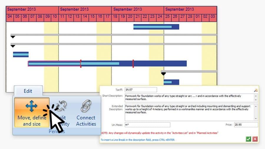 Time-Schedule preparation | PriMus KRONO | ACCA software