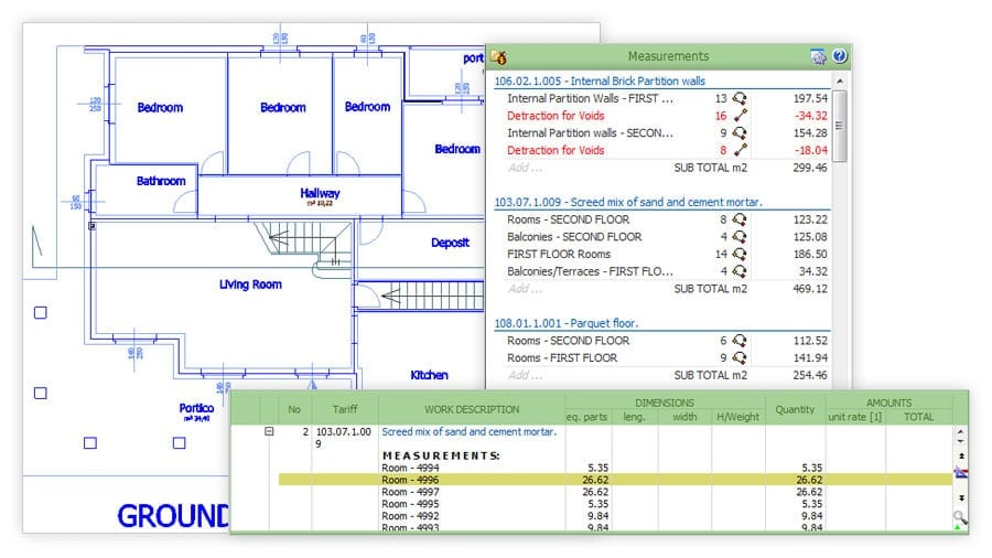 Create Quantity Take-off document from DWG   PriMus TAKEOFF   ACCA software