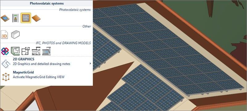 Input a objetos 3D para diseñar sistemas fotovoltaicos | Solarius PV | ACCA software