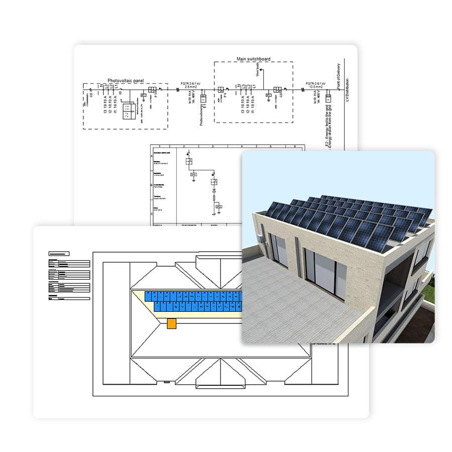 Librerías, herramientas y un asistentes de diseño integrados | Solarius PV | ACCA software