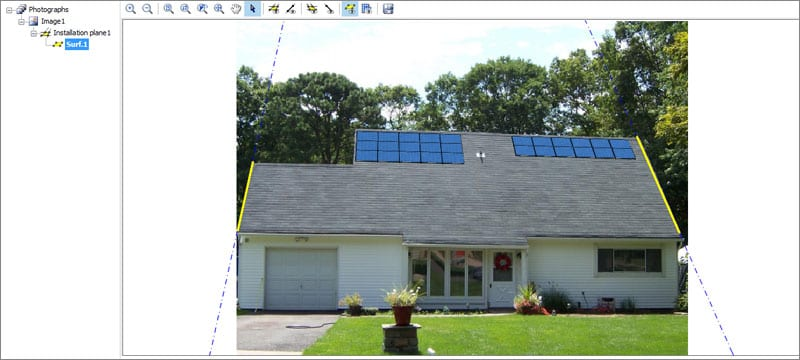 Photovoltaic system photo insertion | Solarius PV | ACCA software