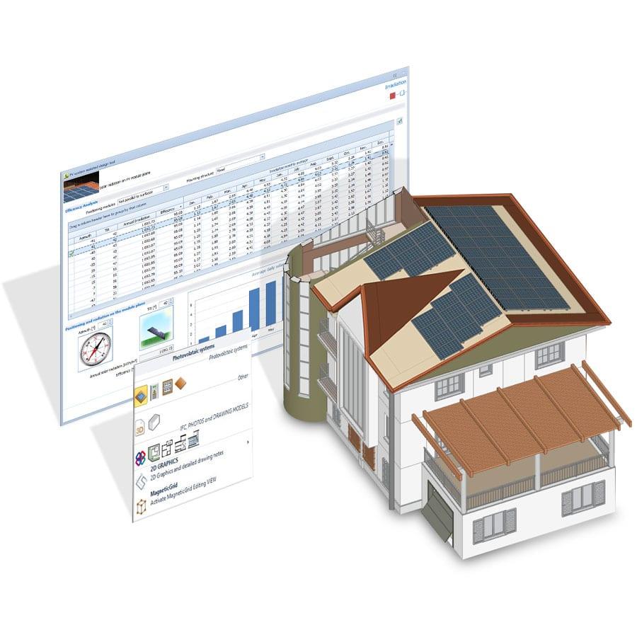 Modelador 3D/BIM | Solarius PV | ACCA software