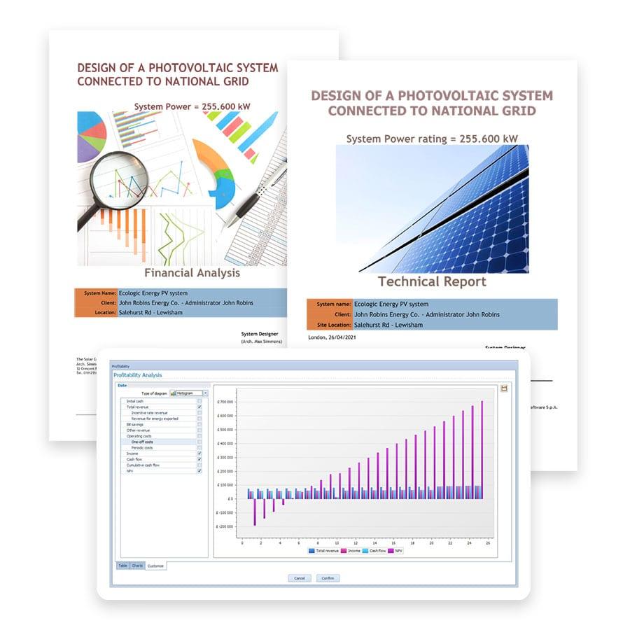 Produces informes técnicos y económicos | Solarius PV | ACCA software
