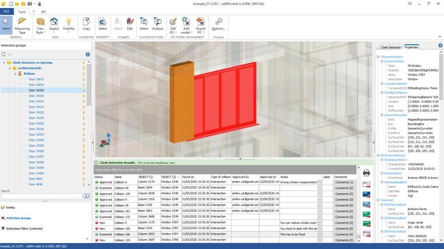 Video Vérification interférences et gestion conflits entre les différents modèles open BIM IFC | usBIM.clash | ACCA software