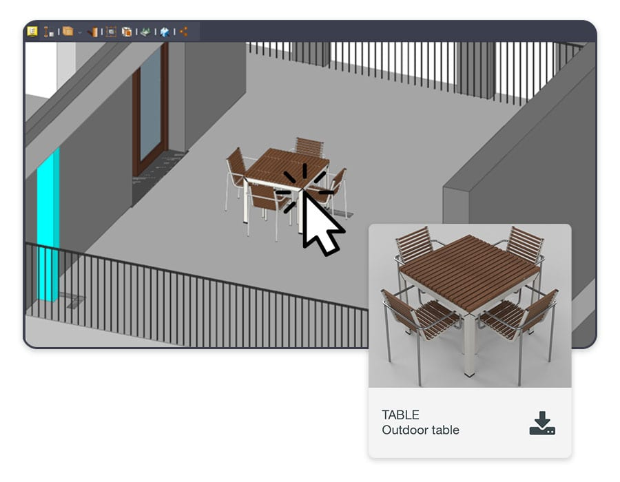 New objects in the IFC model | usBIM.editor | ACCA Software