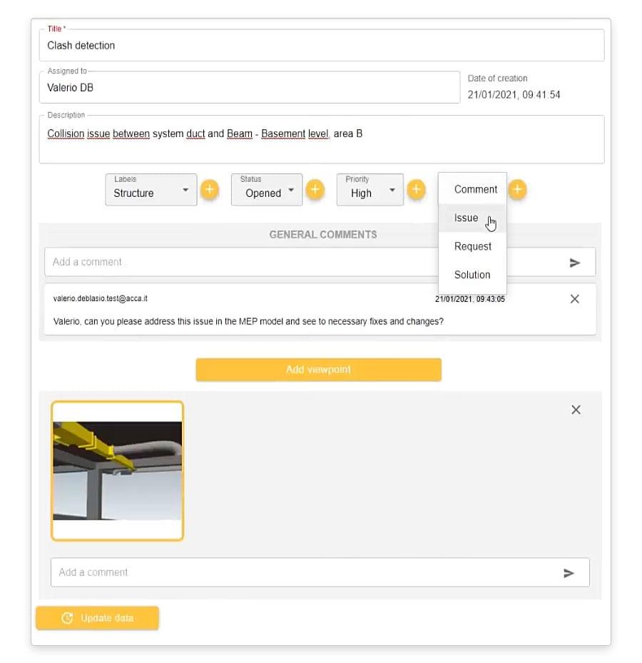 Creación, clasificación y gestión de archivos BCF | usBIM.bcf | ACCA software
