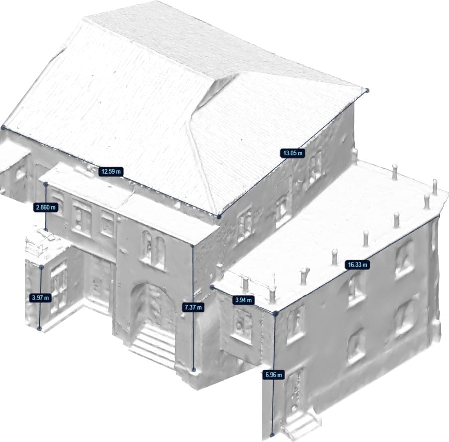 Take measurements directly from the surveyed model | usBIM.pointcloud | ACCA software